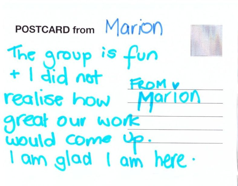postcards from the artgroup3 Marion