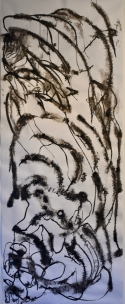 Large experimental ink drawing, Lucy